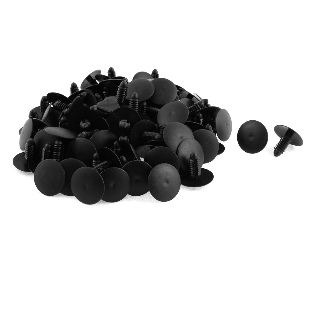 8mm x 7mm Hole Plastic Rivet Fastener Fender Car Bumper Push Clip 100pcs