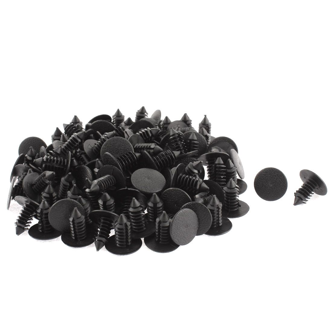 9mm x 8mm Black Plastic Rivet Fastener Fender Car Bumper Push Clip 100pcs