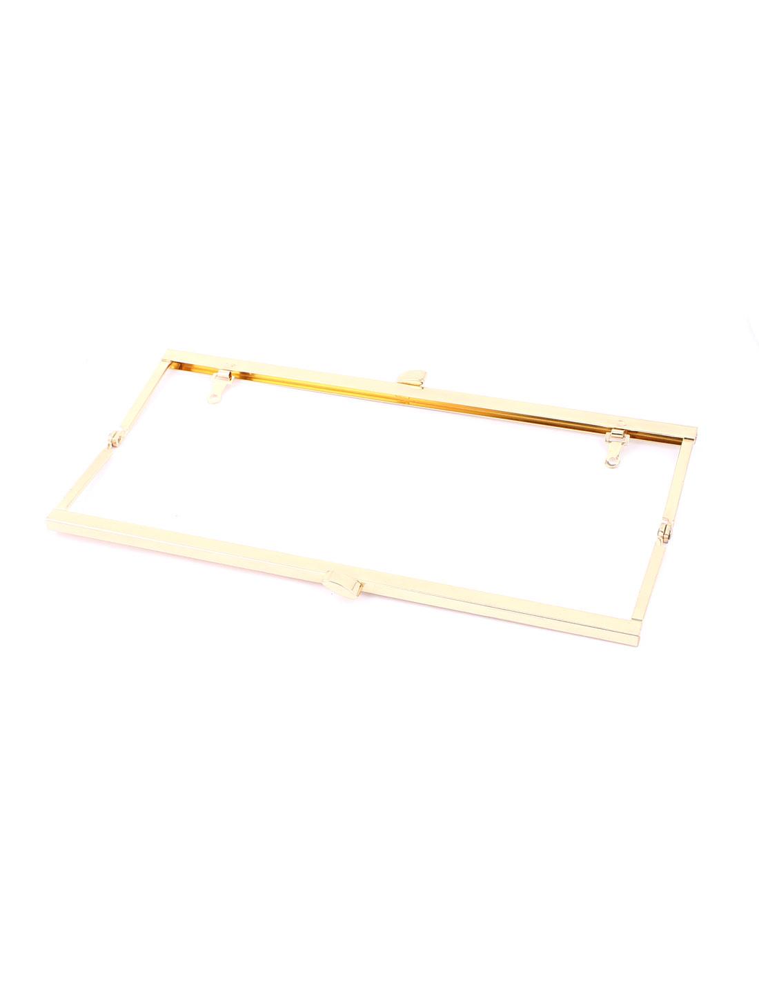 Metal Arch Style Kisslock Purse Handbag Clasp Frame Gold Tone