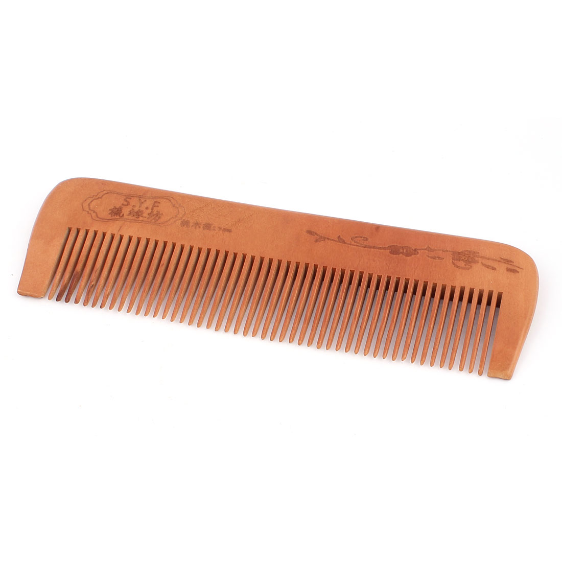 Wooden Natural Comb Head Hair Care Hand Craft Wood Color