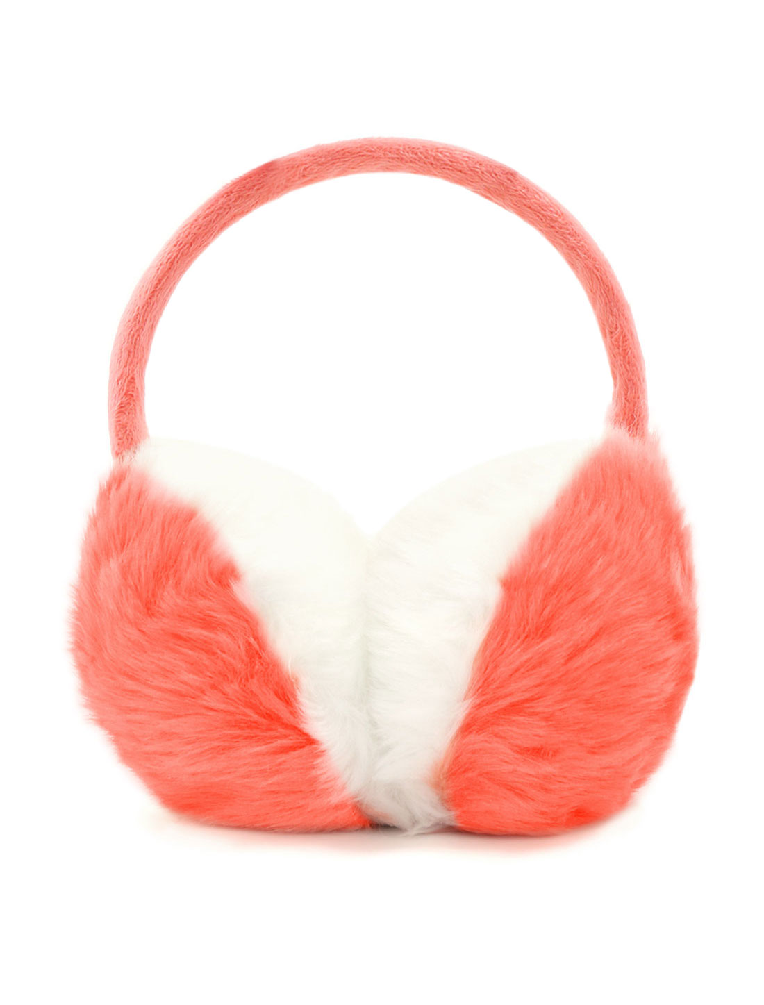 Ladies Color Block Quilted Plush Coated Ear Warmer Pink