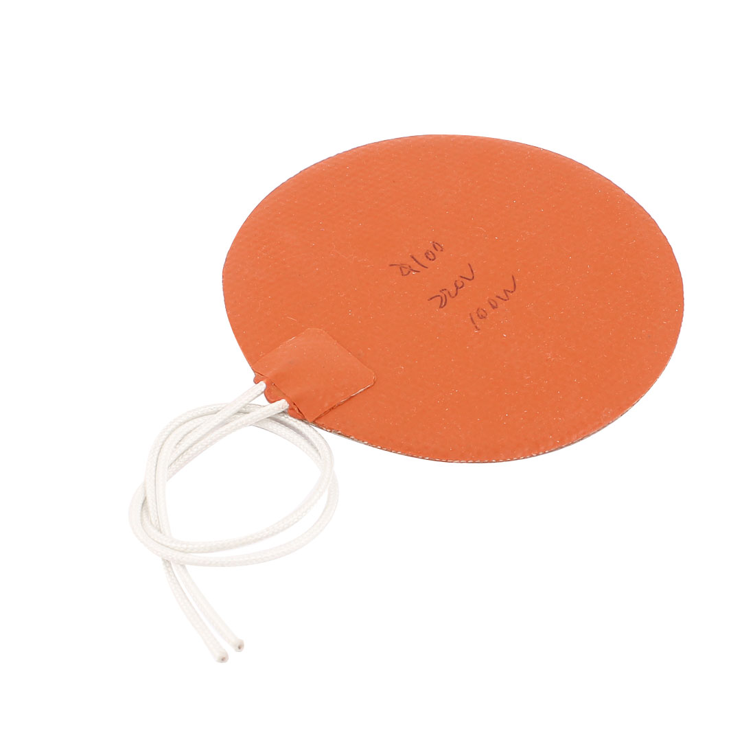 220V 100W 100mm Outer Dia Round Silicone Heating Plate Flexible Rubber Heater