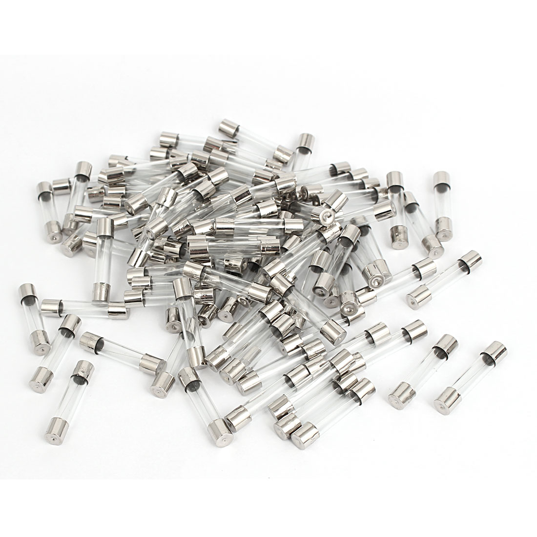 6mm x 30mm AC 250V 5A Quick Blow Glass Tube Fuses Replacement 100 Pcs
