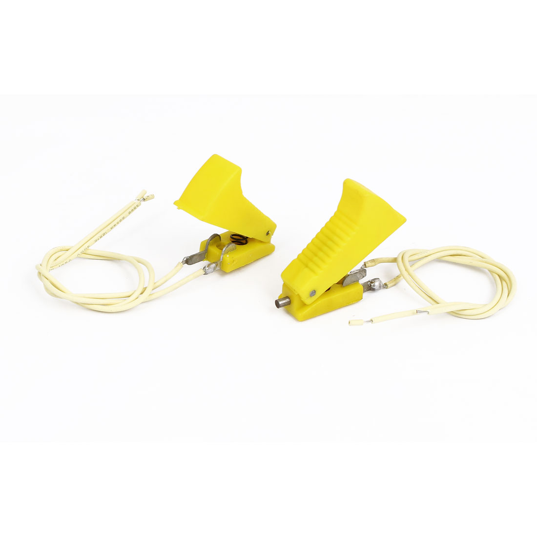 Yellow Plastic Shell 2 Terminals CO2 Welding Gun Cutter Switch 2 Pcs
