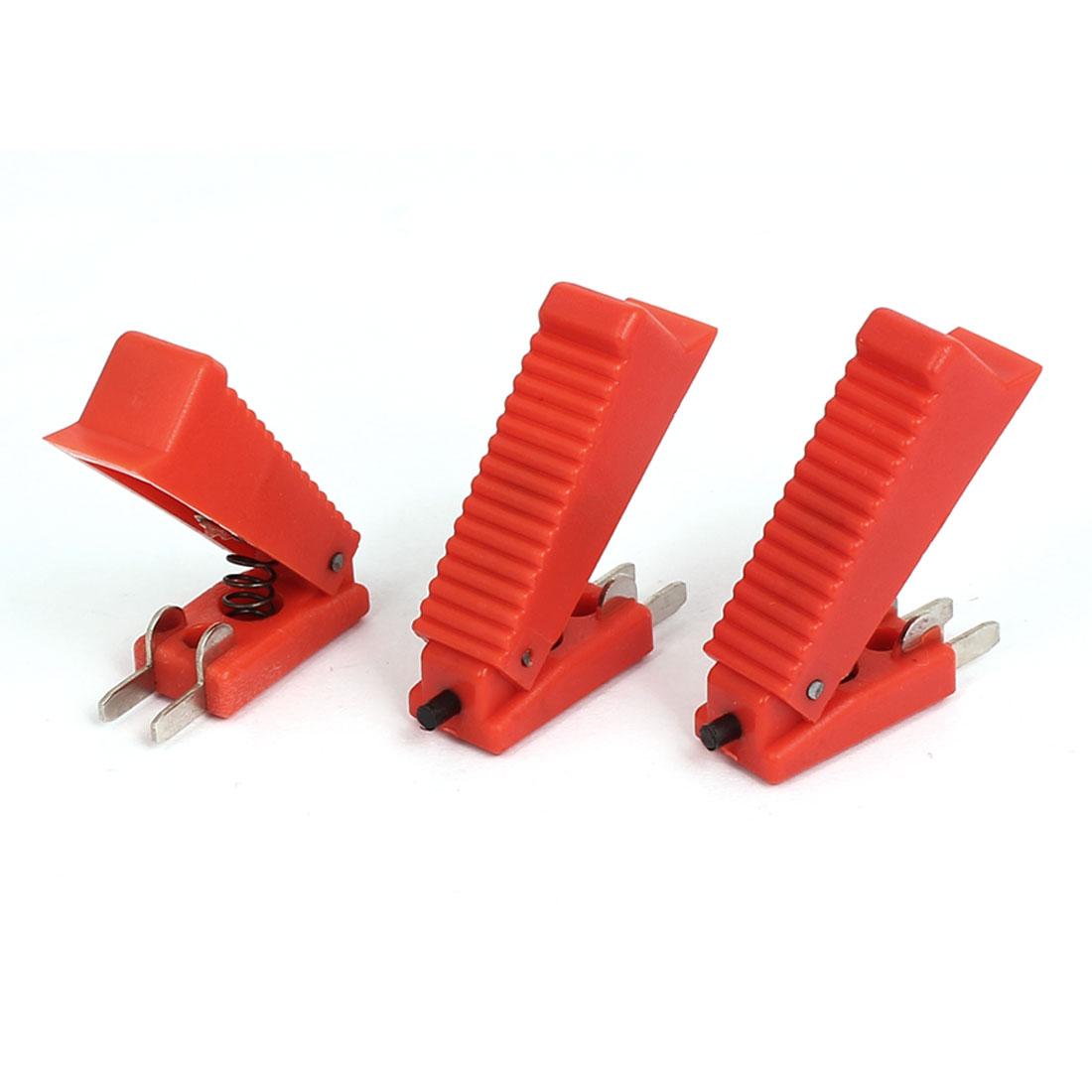 Red Shell 2 Terminals CO2 Welding Gun Cutter Trigger Switch 3 Pcs