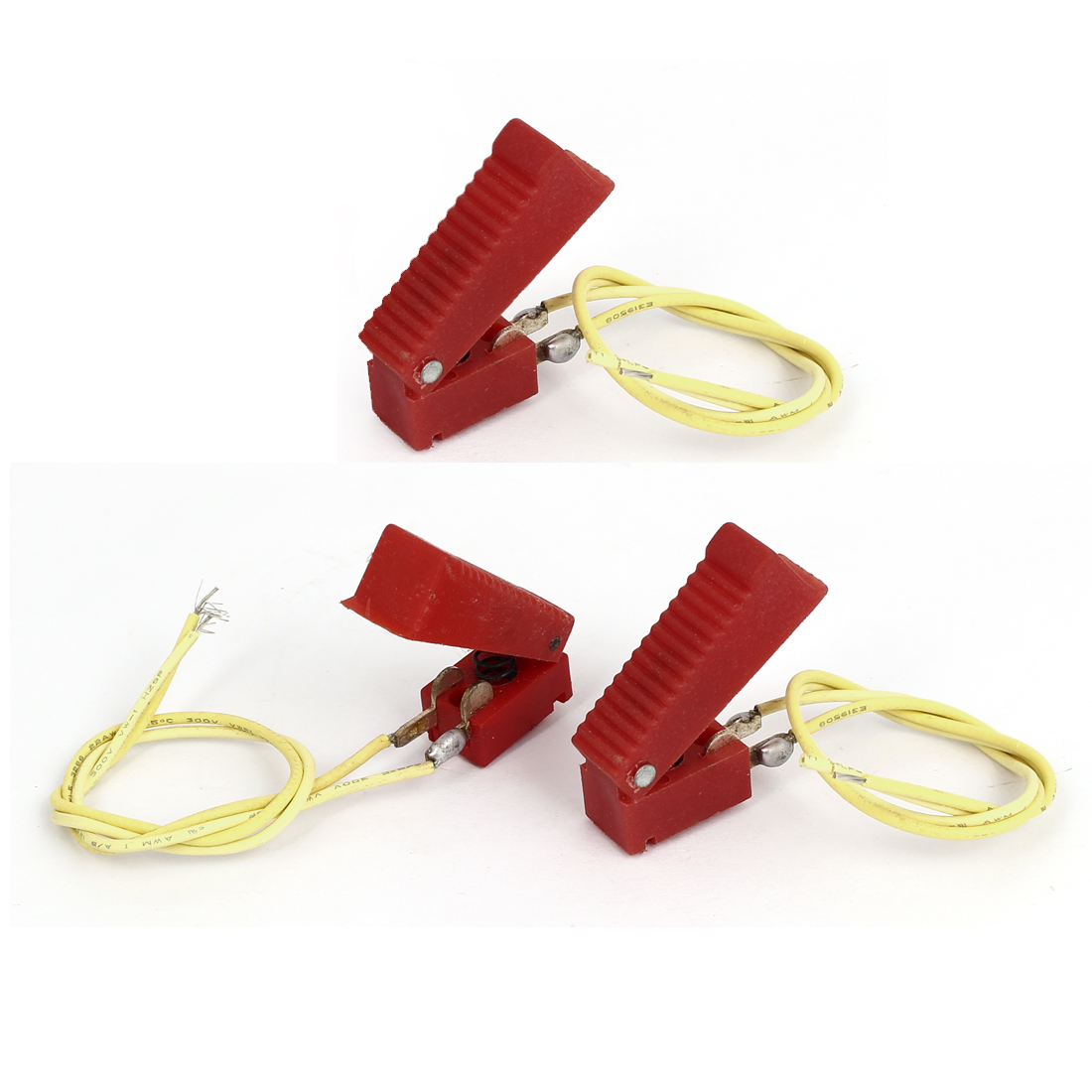 Red Plastic Shell 2 Terminals CO2 Welding Gun Cutter Switch 3 Pcs