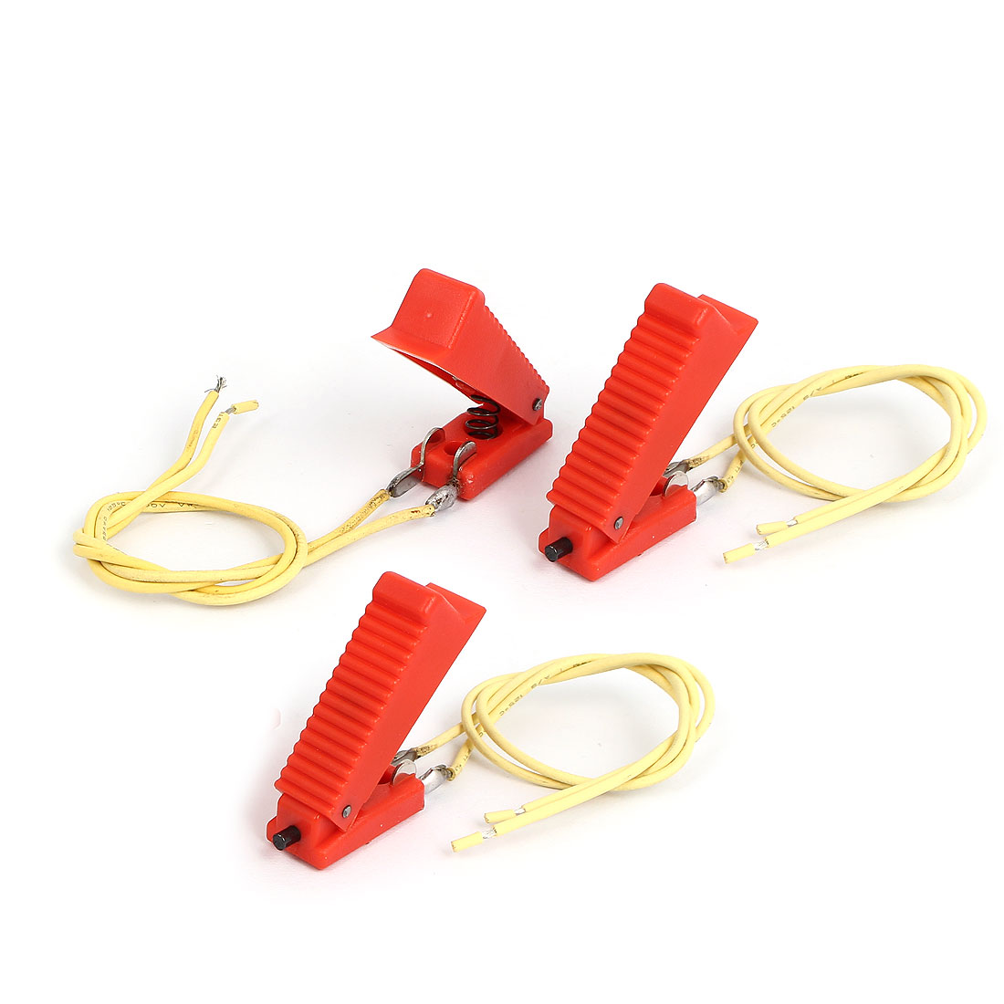 Plastic Red Shell 2 Terminals CO2 Welding Gun Cutter Trigger Switch 3 Pcs