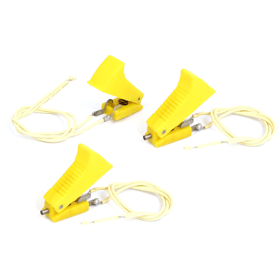 Yellow Plastic Shell 2 Terminals CO2 Welding Gun Cutter Switch 3 Pcs