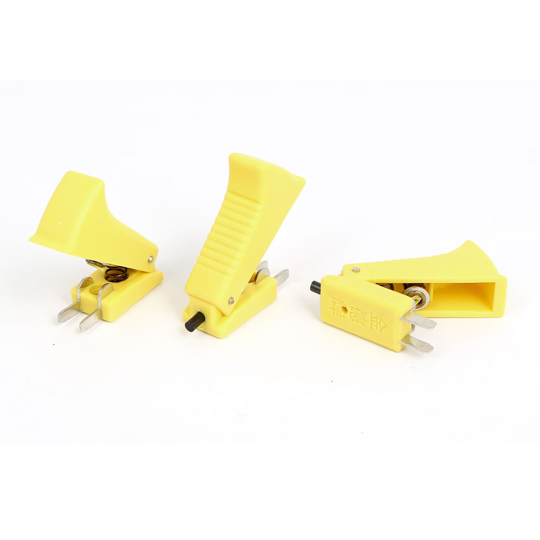 Yellow Shell 2 Terminals CO2 Welding Gun Cutter Trigger Switch 3 Pcs
