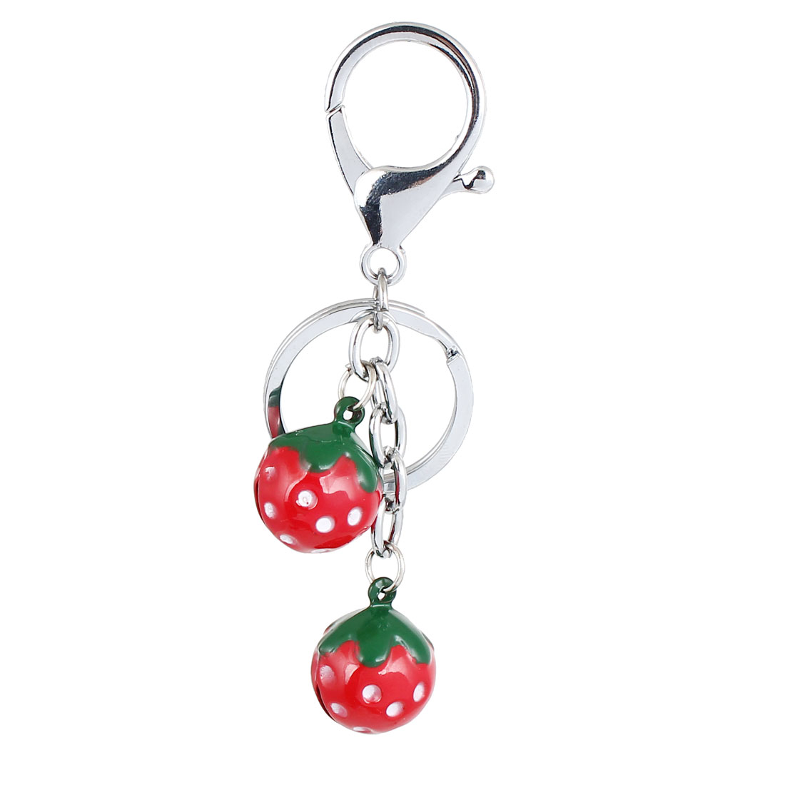Strawberry Dangling Bells Decor Keyring Hanging Pendant