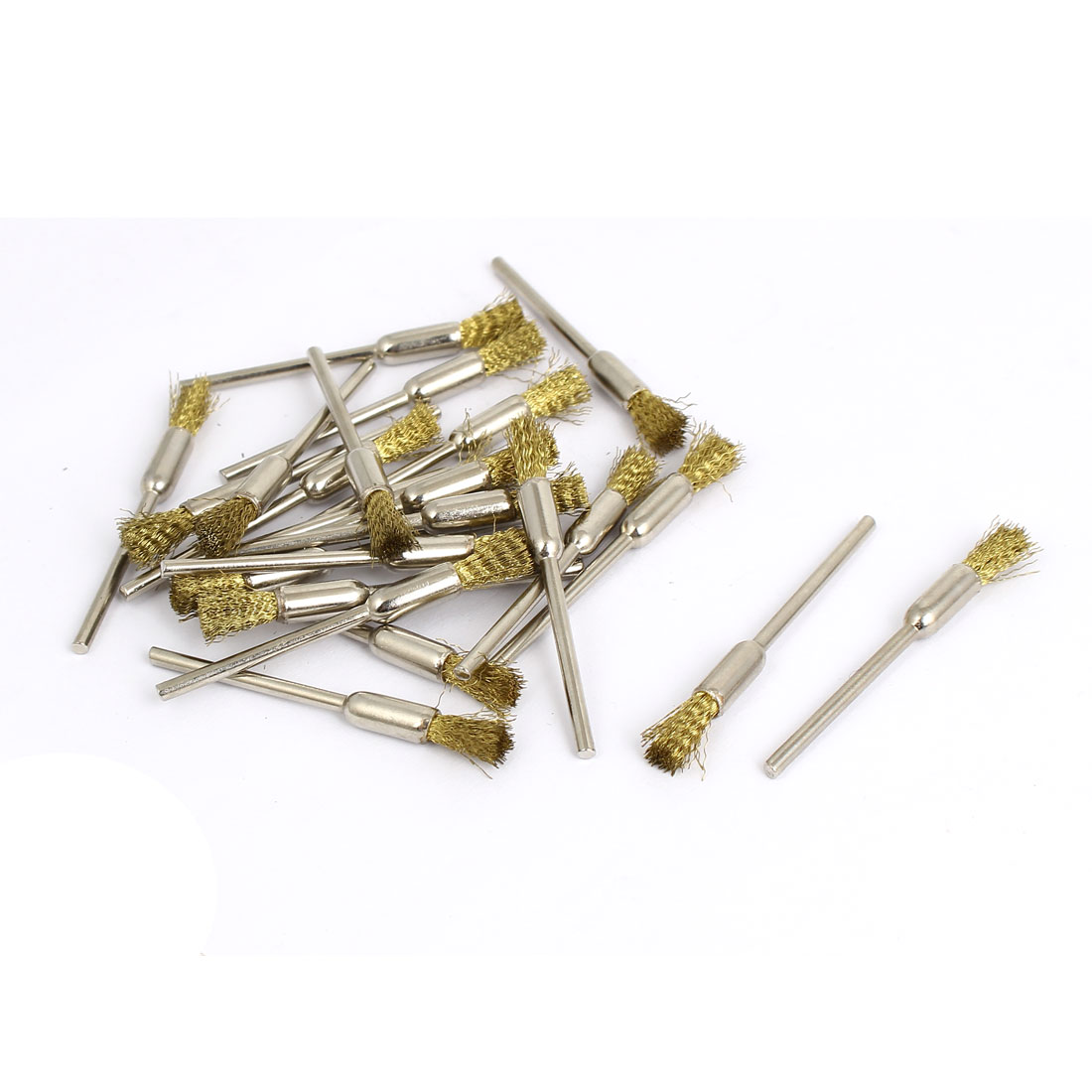 2.3mm Shank Wire Wheel Cup Brushes 23 Pcs for Rotary Drill Tool Polishing