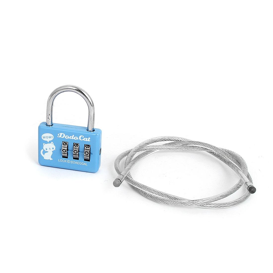 Mini 3 Digit Combination Security Safe Travel Luggage Code Lock Padlock