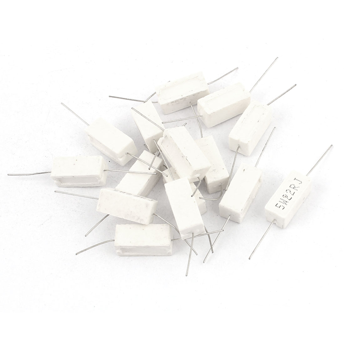 15 Pcs 22 OHM 5 Watt Radial Ceramic Cement Power Resistor 5 W 22 OHM 5W22RJ