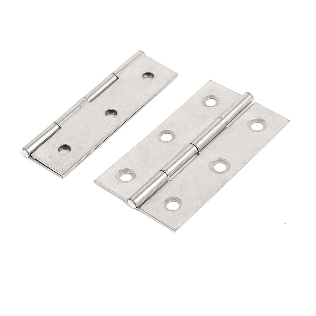 Cabinet Drawer Door Steel Butt Hinges Silver Tone 66mm Length 2pcs