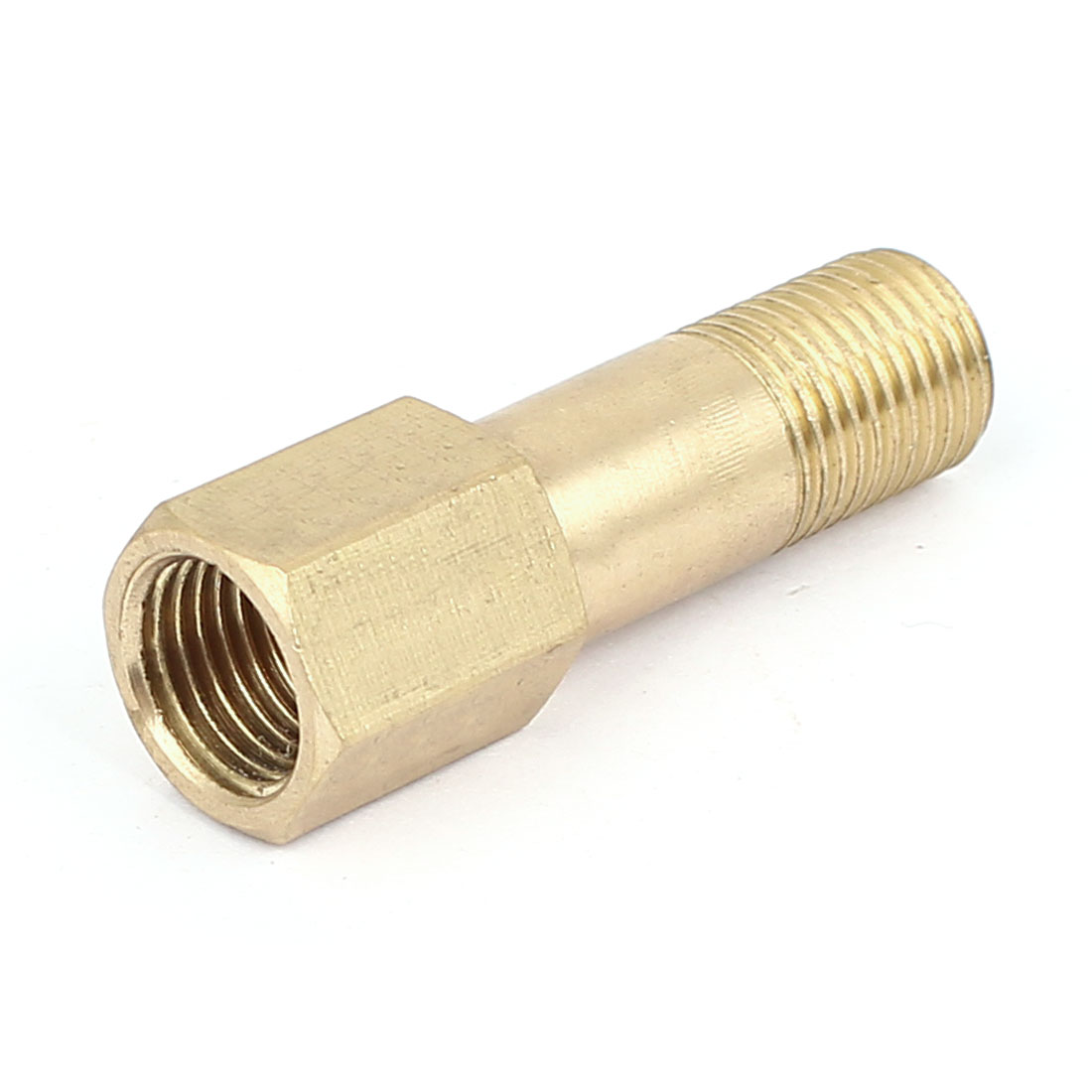 11.8mm Female to 9mm Male thread Brass Straight Adapter Pipe Fitting