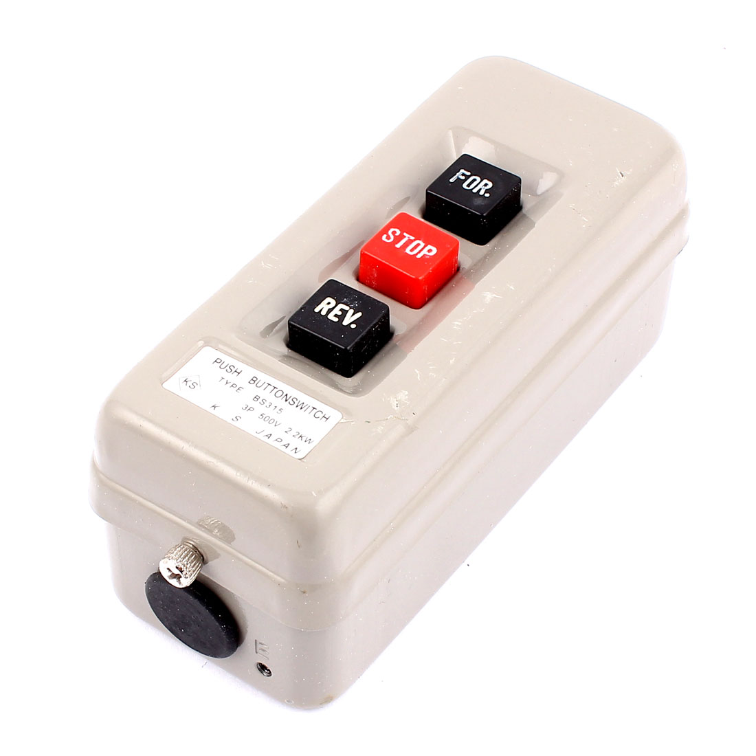 AC 500V 2.2KW For Stop Rev Station Control Pushbutton Switch for Hoist