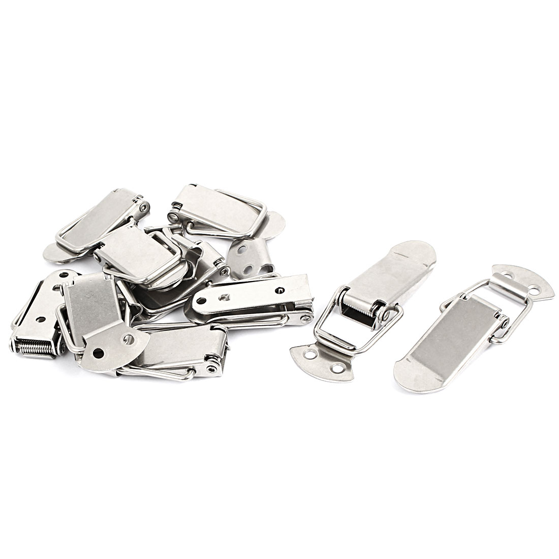 Chests Drawer Toolbox Spring Toggle Latch Catch Silver Tone 55mm Long 10pcs