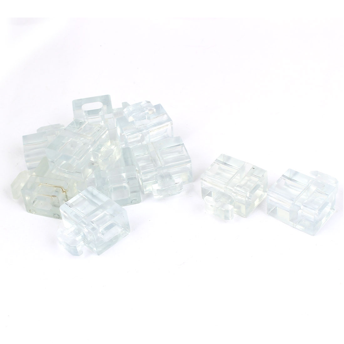 Industrial Aluminum Glass Spacer Fastener Block Connector Clear 45 Series 10pcs