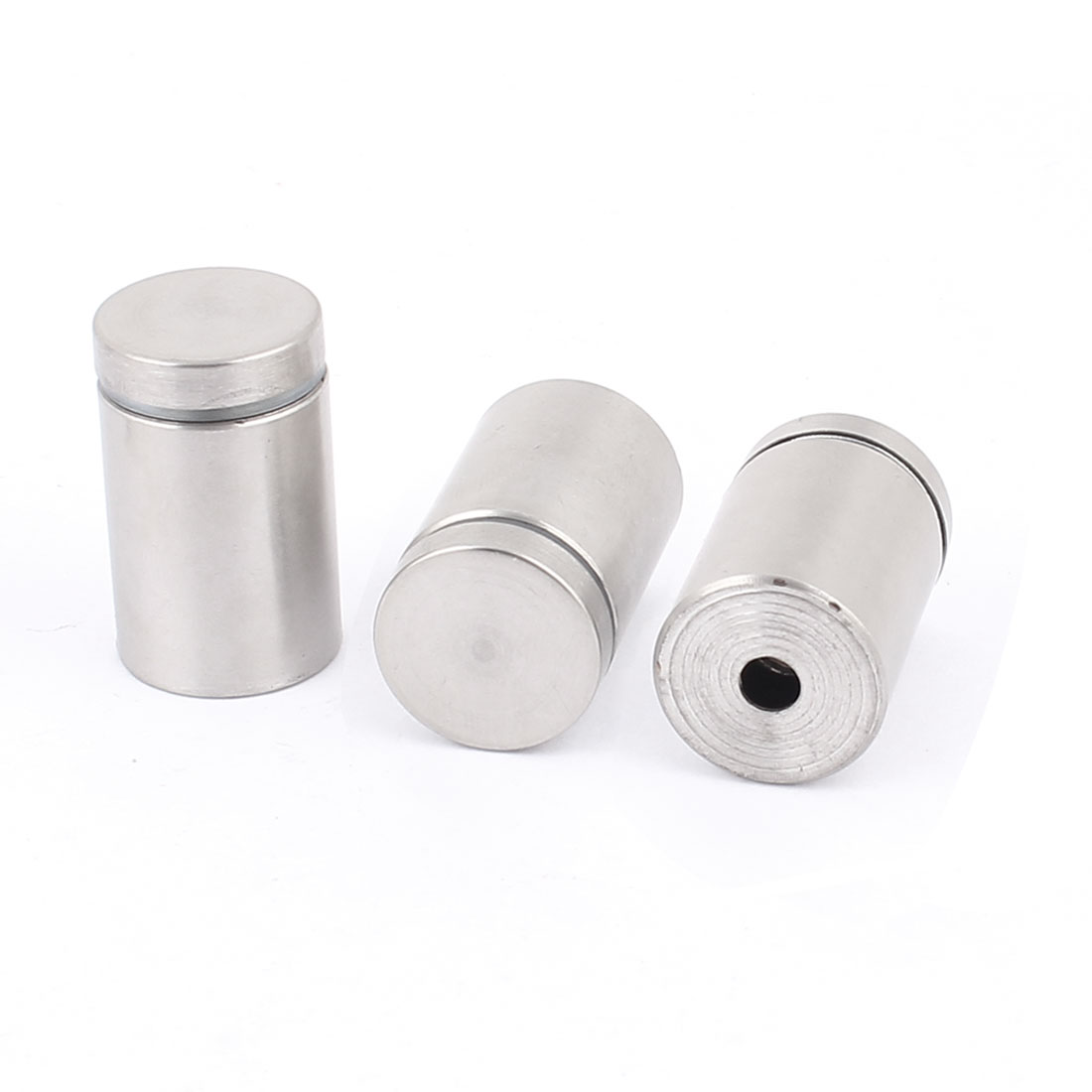 19mm x 30mm Stainless Steel Glass Standoff Hardware Silver Tone 3 Pcs