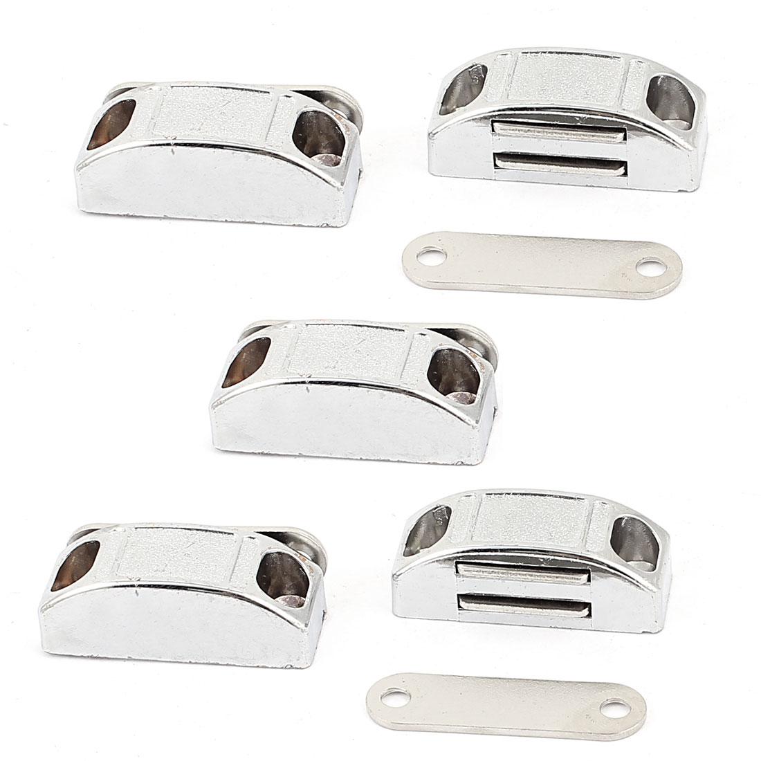 Cupboard Wardrobe Cabinet Door Magnetic Catch Stopper Holder Latch 5pcs w Screws
