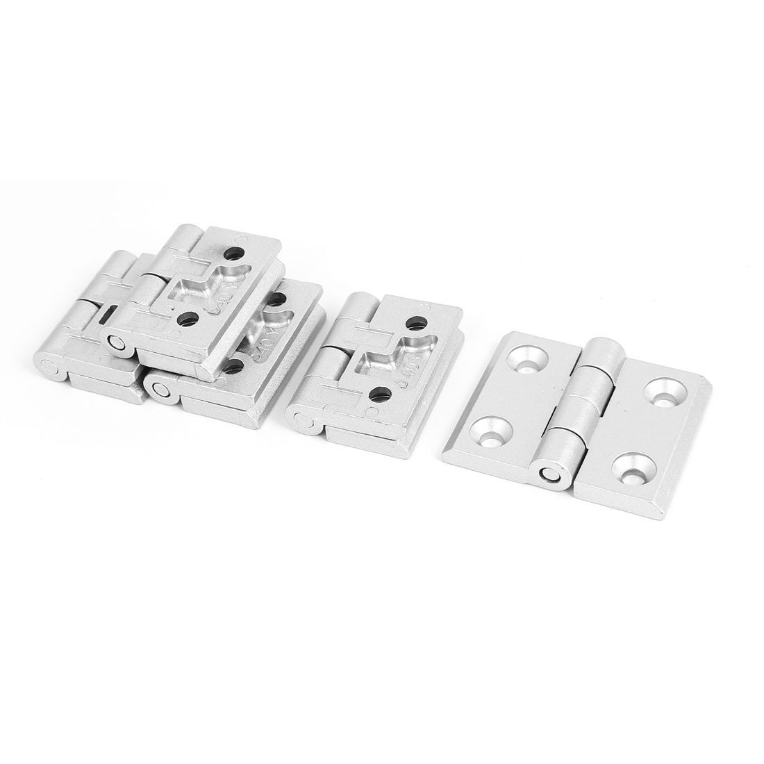 64mm x 50mm 2 Leaves Door Bearing Reinforced Butt Hinge Silver Tone 5pcs