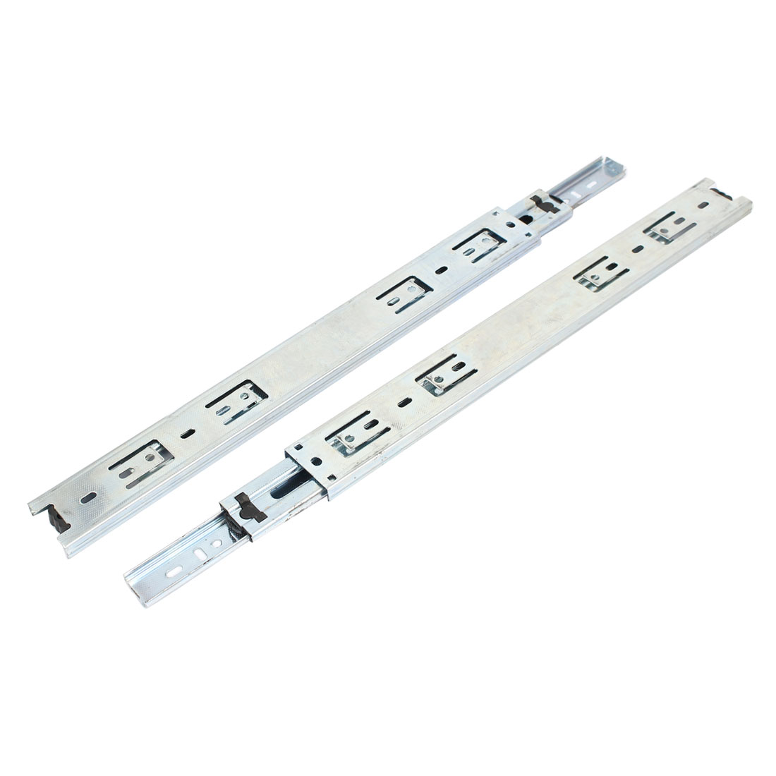 Pair 3 Fold Smooth Telescopic Metal Ball Bearing Drawer Sliding Track 69.5cm Long