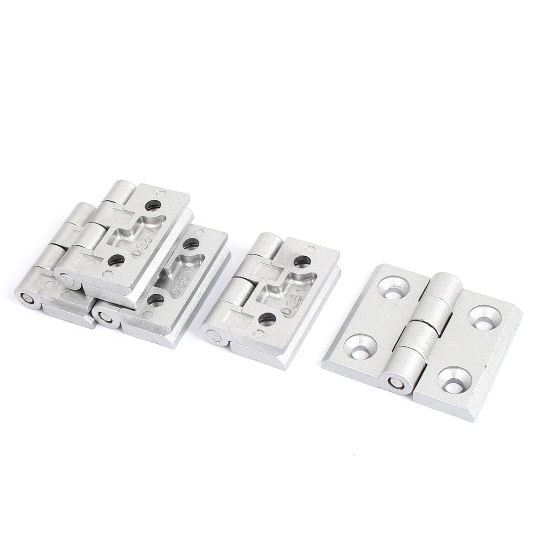 Cabinet Door 2 Leaves Ball Bearing Metal Reinforced Butt Hinge 58mm Long 5pcs