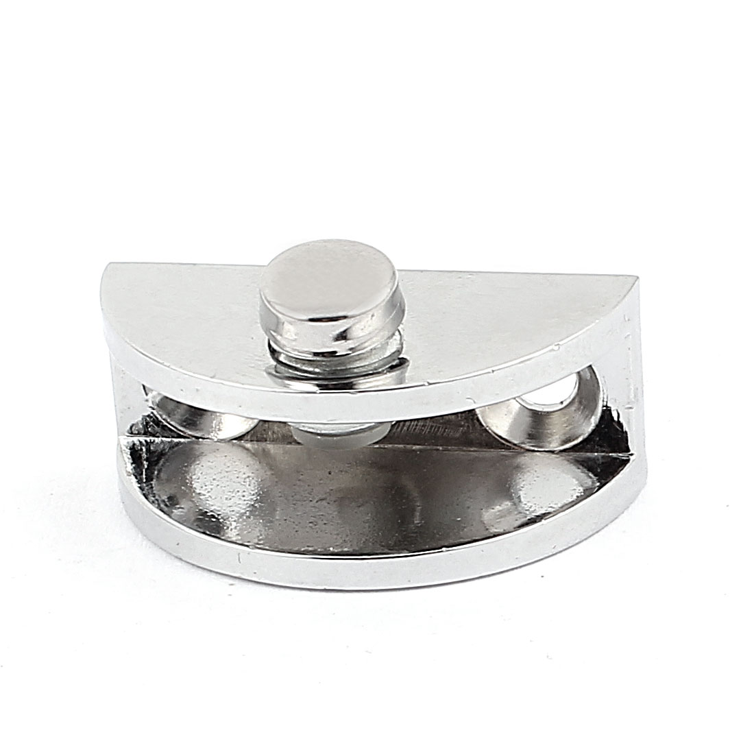 Shelf Bracket Metal Adjustable Glass Clamp Fitted Clip Silver Tone 33mm Long