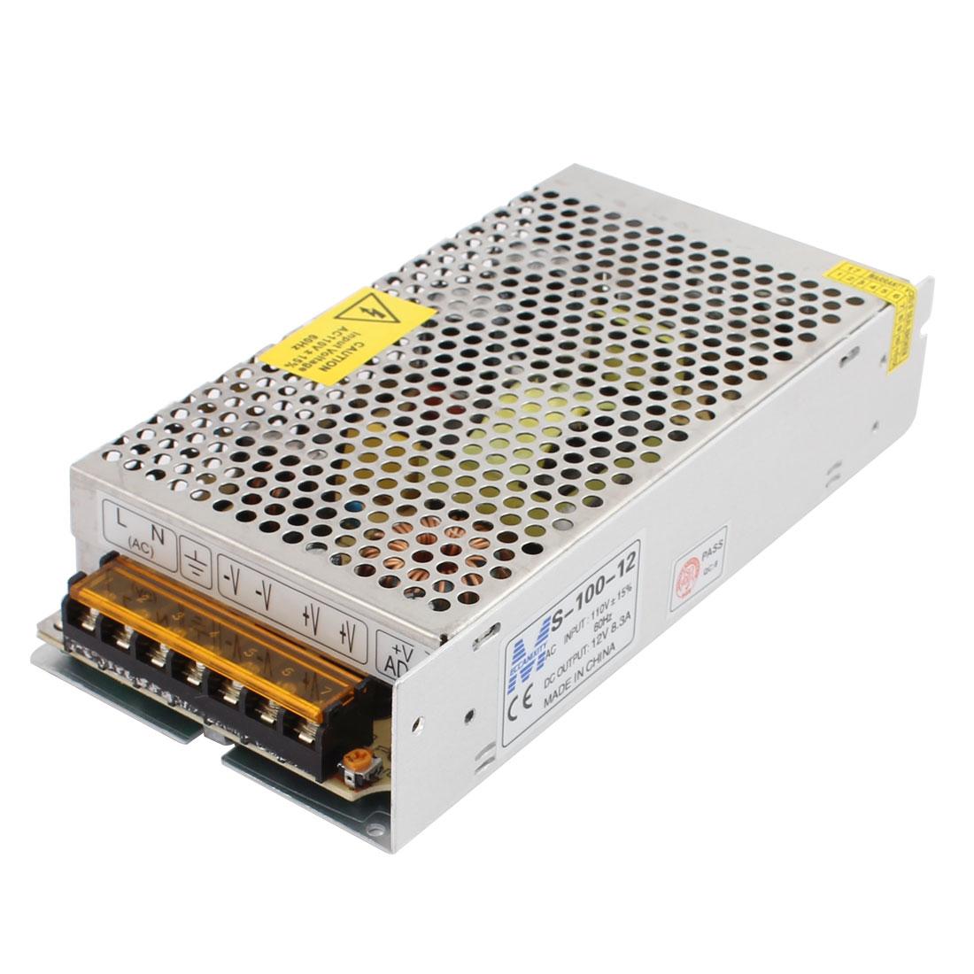 AC 110V/220V to DC 12V 8.3A 100W Switch Power Supply Driver S-100-12 for LED Strip