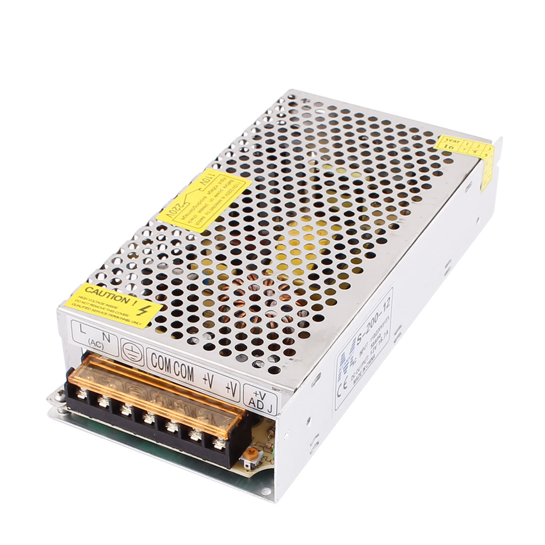AC 110V/220V to DC 12V 16.7A 200W Switch Power Supply Driver S-200-12 for LED Strip Light