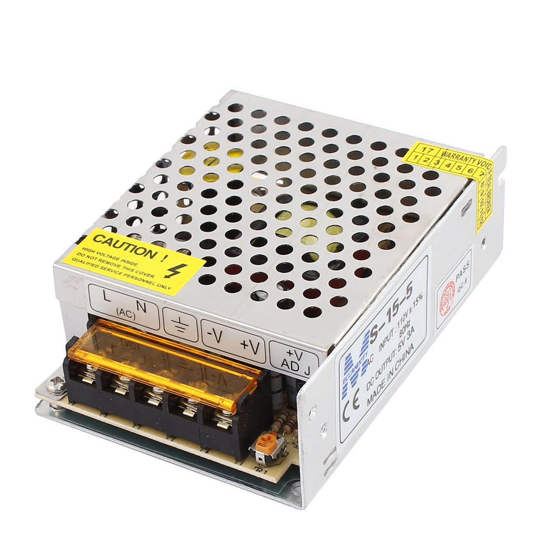 AC 110V to DC 5V 3A 15W Switching Power Supply Driver S-15-5 for LED Strip