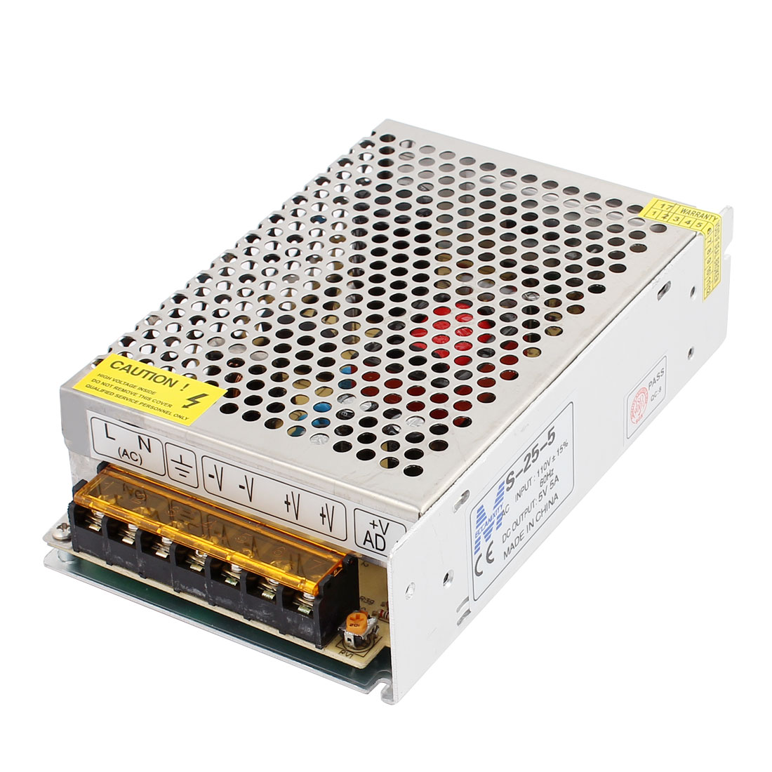 AC 110V 220V to DC 5V 5A 25W Switching Power Supply Driver S-25-5 for LED Strip