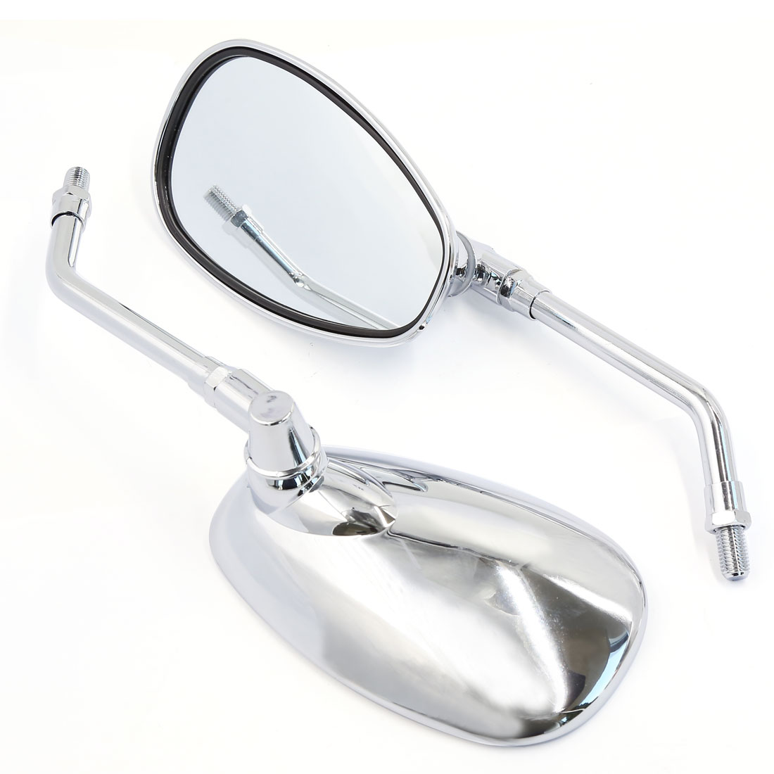 2pcs Chrome 10mm Motorcycle Rearview Mirrors For Shadow Rebel VTX VT Cruiser