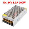 AC 110V/220V to DC 24V 8.3A 200W Switch Power Supply Driver S-200-24 for LED Strip Light