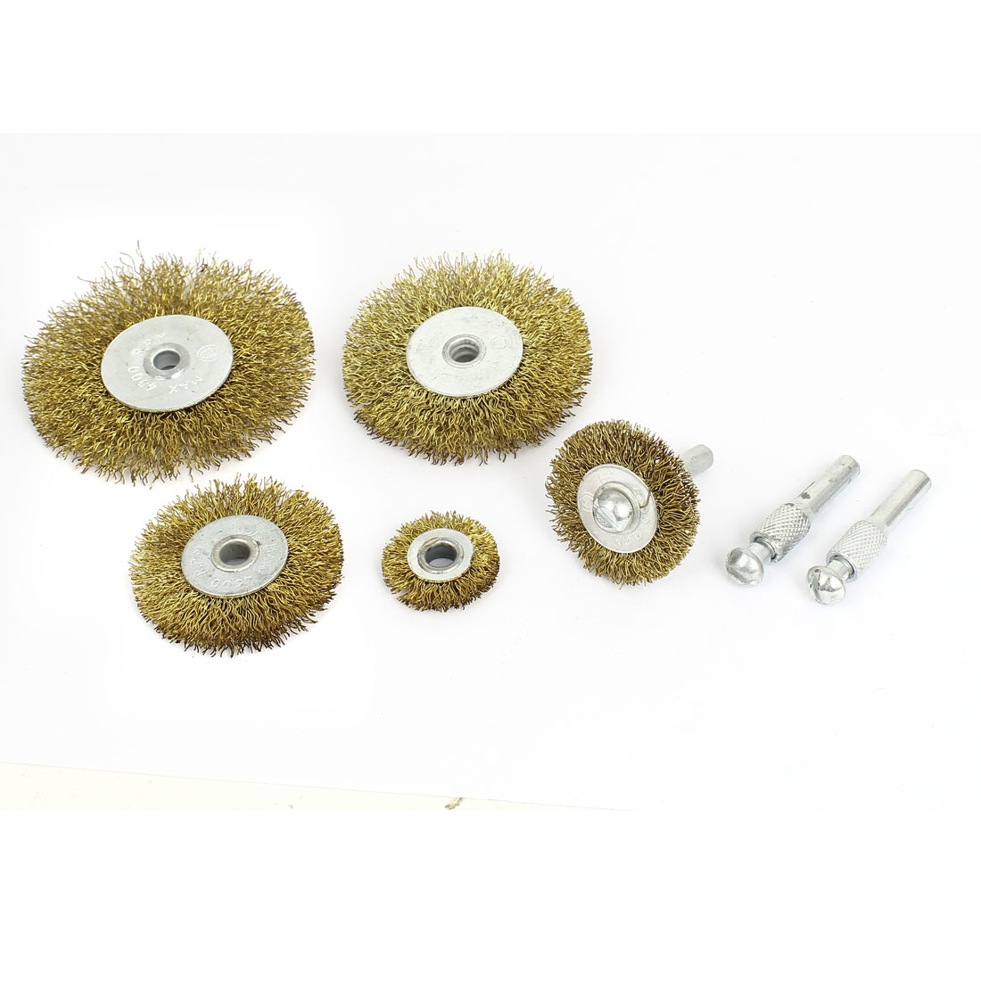 Gold Tone Steel Wire Polishing Grinding Wheel Cleaning Brush Tool Set
