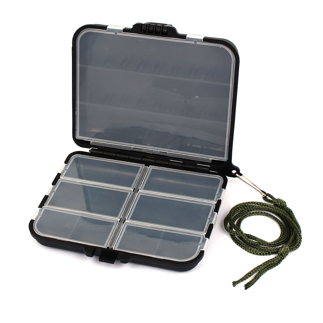 Plastic 11 Compartment Fishing Tackle Tool Lure Hook Storage Case Box Black