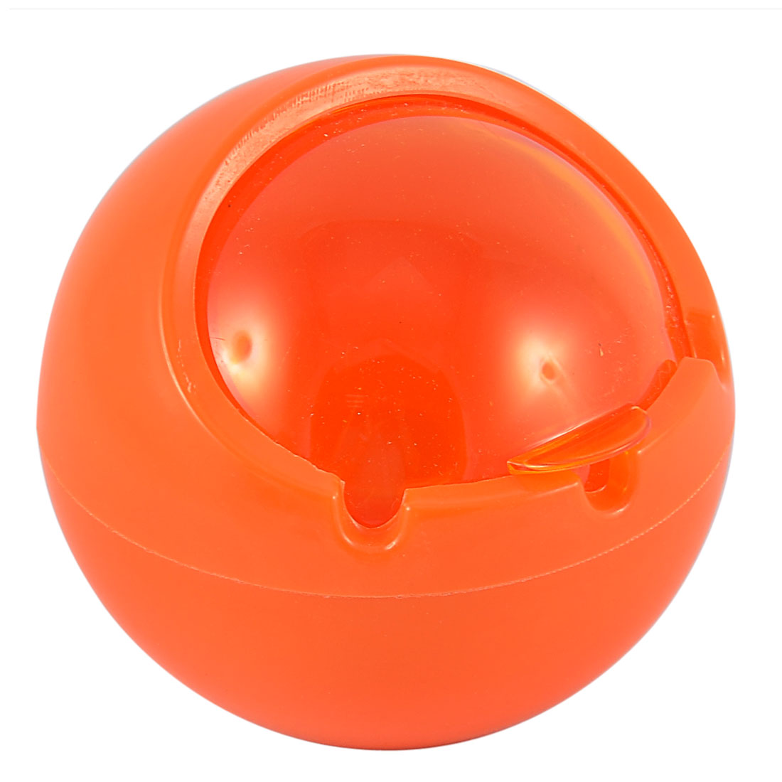 Plastic Ball Shaped Home Office Cigarette Ash Holder Cup Case Ashtray Orange