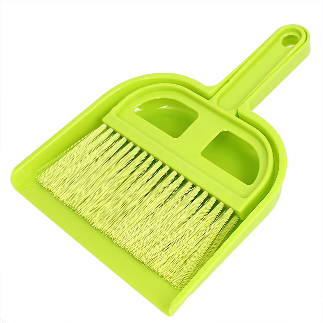 Car Dashboard Desktop Computer Keyboard Mini Cleaning Brush Dustpan Set Green