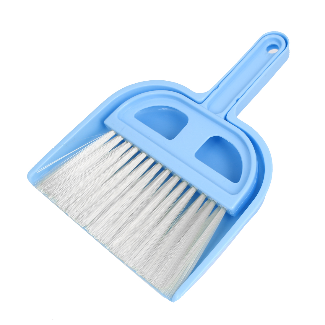 Car Dashboard Desktop Computer Keyboard Mini Cleaning Brush Dustpan Set Blue