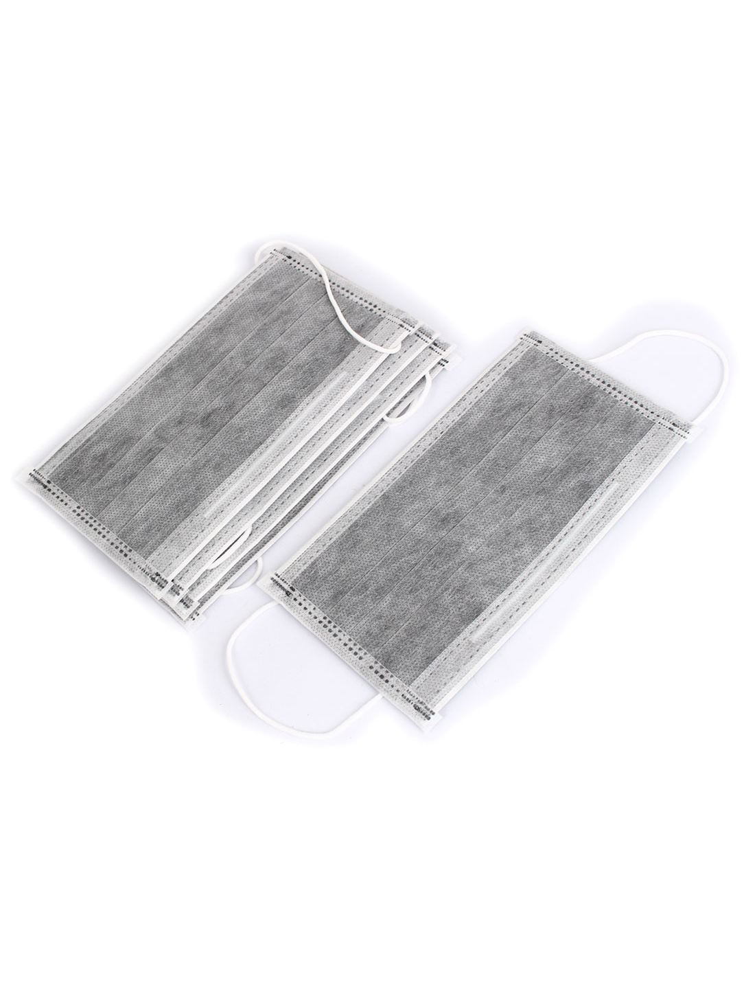 Unisex Earloop Anti-Dust Disposable Mouth Nose Muffle Face Mask Gray 5Pcs