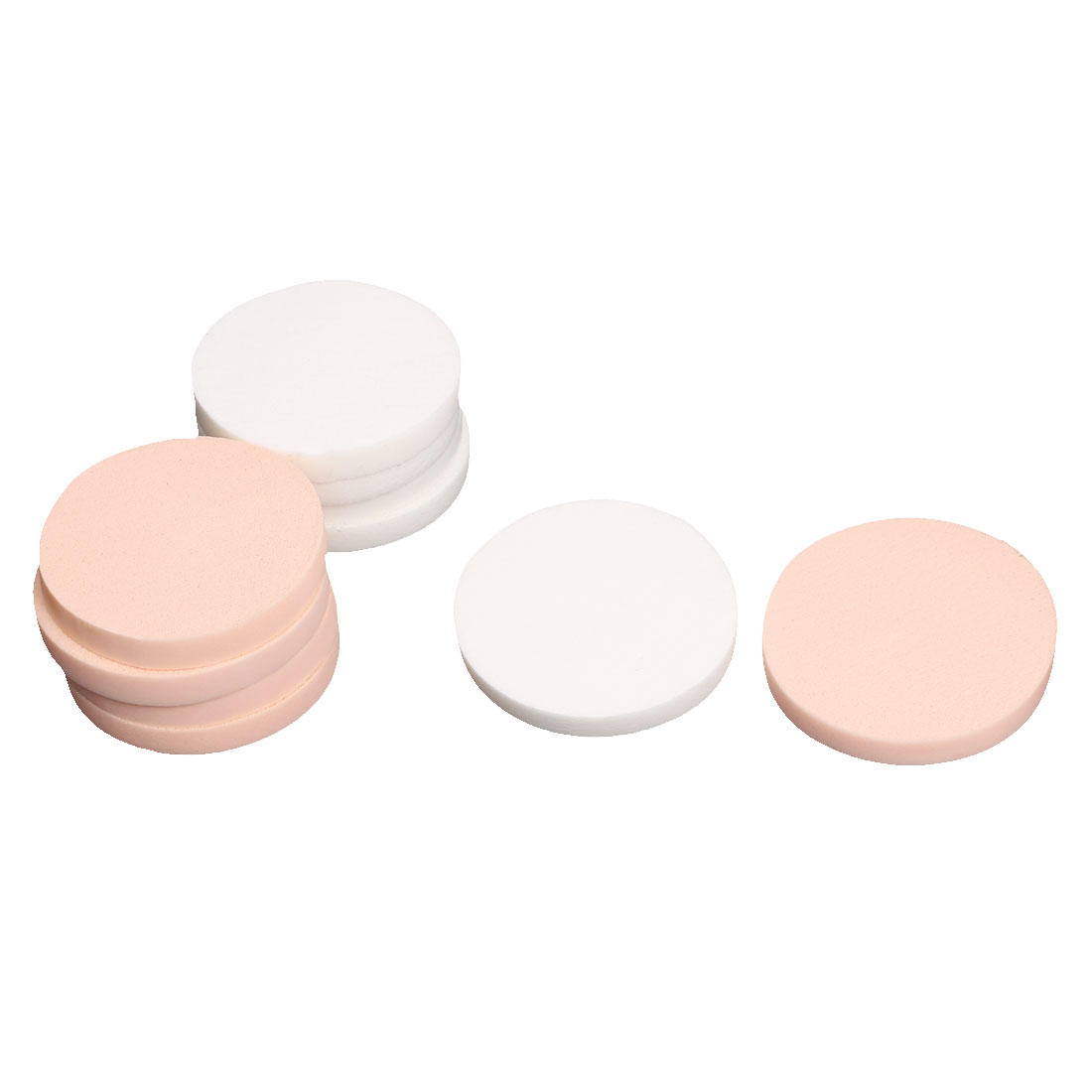 "Lady Women 2"" Dia Round Soft Makeup Cosmetic Facial Face Powder Puff 10Pcs"