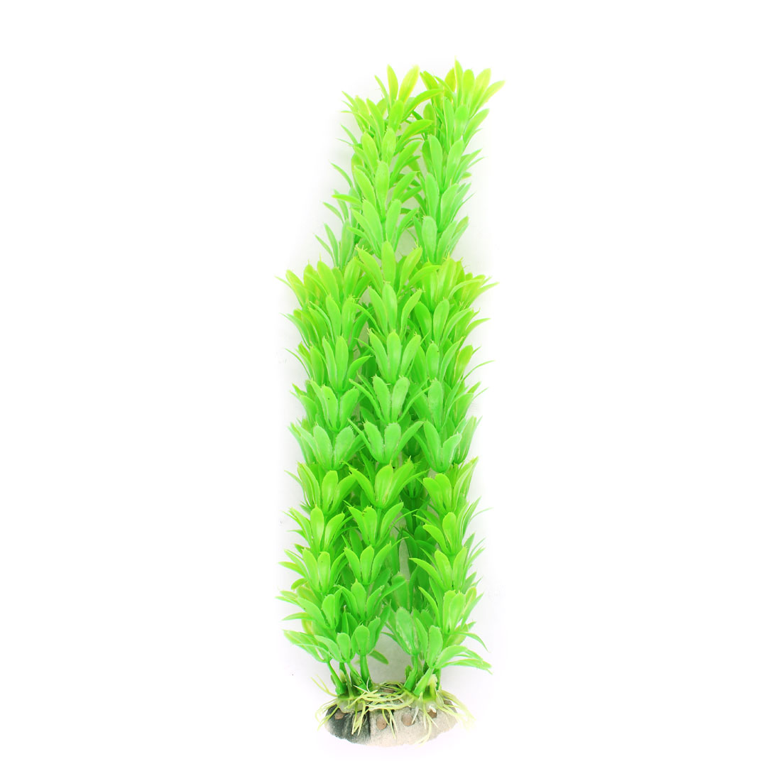 28cm Length Green Plastic Manmade Aquarium Water Plant Ornament for Fishbowl Fish Tank