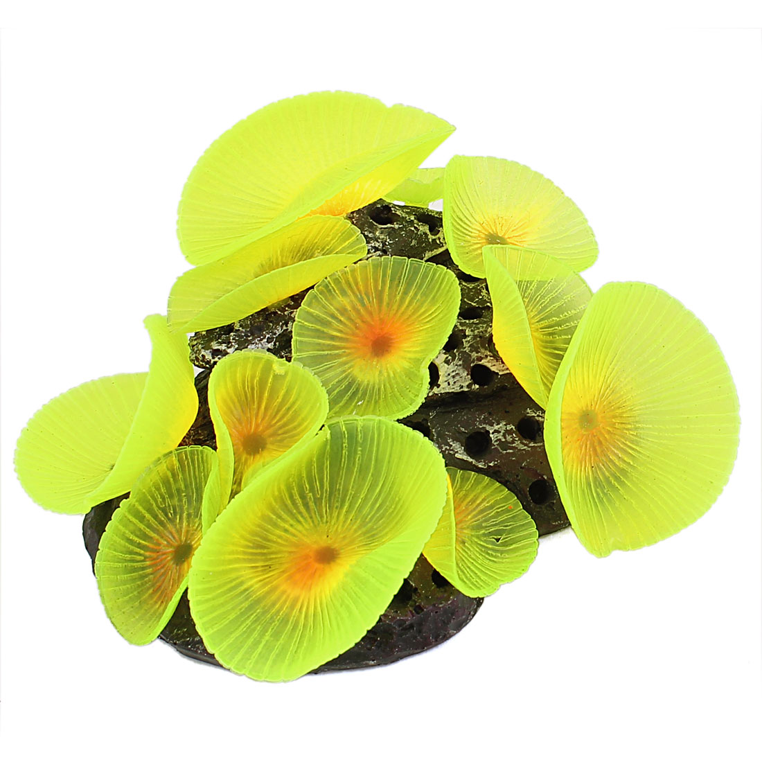 Fish Tank Aquascaping Artifical Aquarium Coral Ornament Underwater Plant Yellow