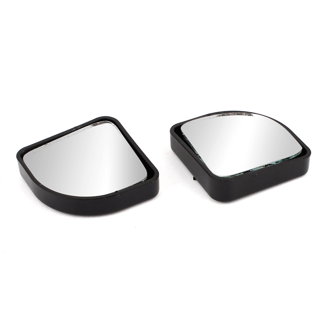 2pcs 360 Degree Rotatable Adjustable Adhesive Base Car Vehicle Blind Spot Rearview Mirror