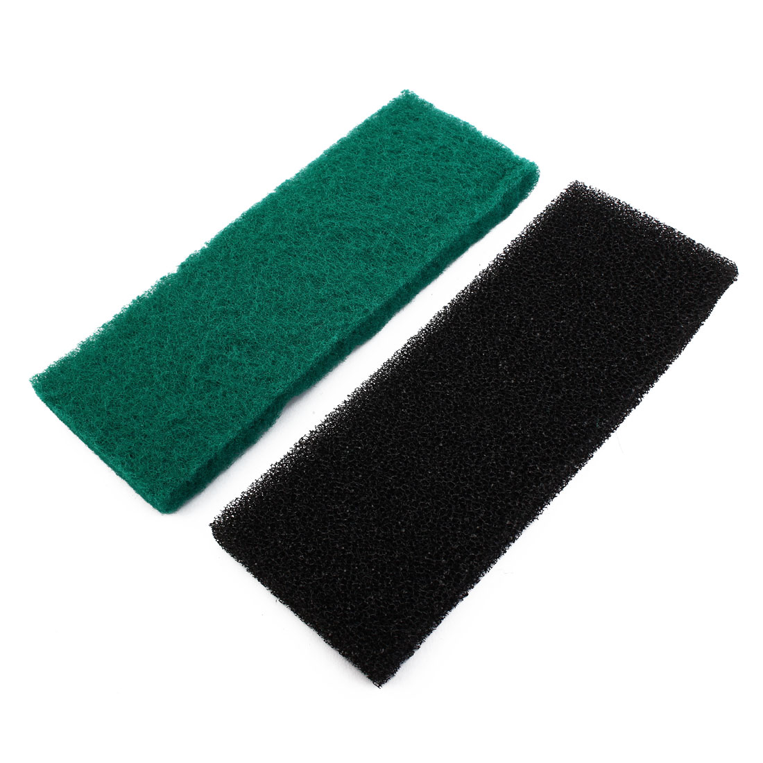 2pcs Black Green Rectangular Water Filtration Biochemical Air Filter Sponge for Aquarium Fish Tank