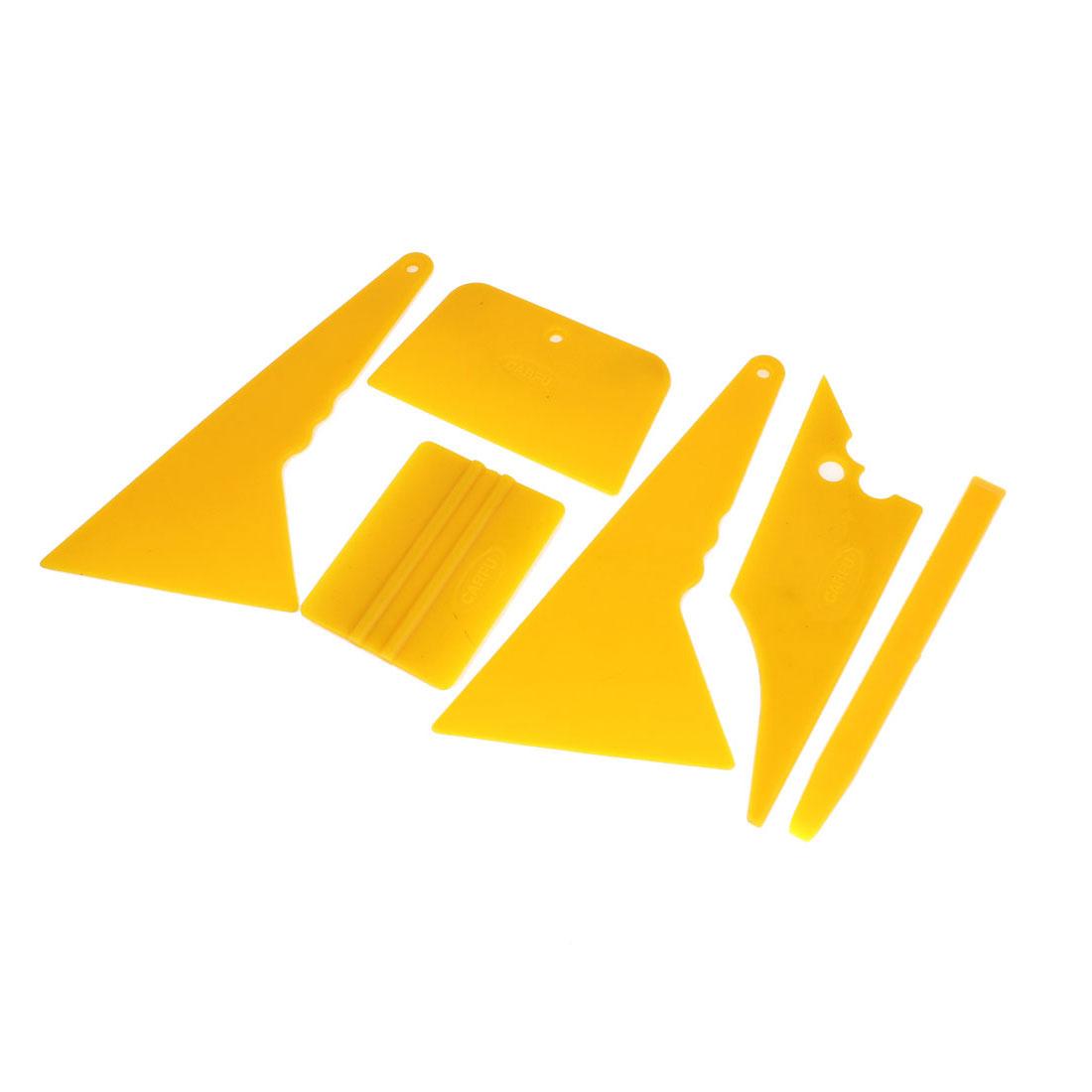 Yellow Car Window Tint Tool Vinyl Film Scraper Installation Kit Set