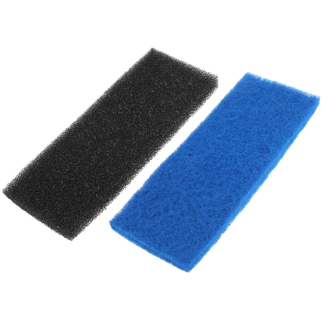 Aquarium Double Layer Biochemical Filter Sponge Filtration Pad Black Blue 2pcs