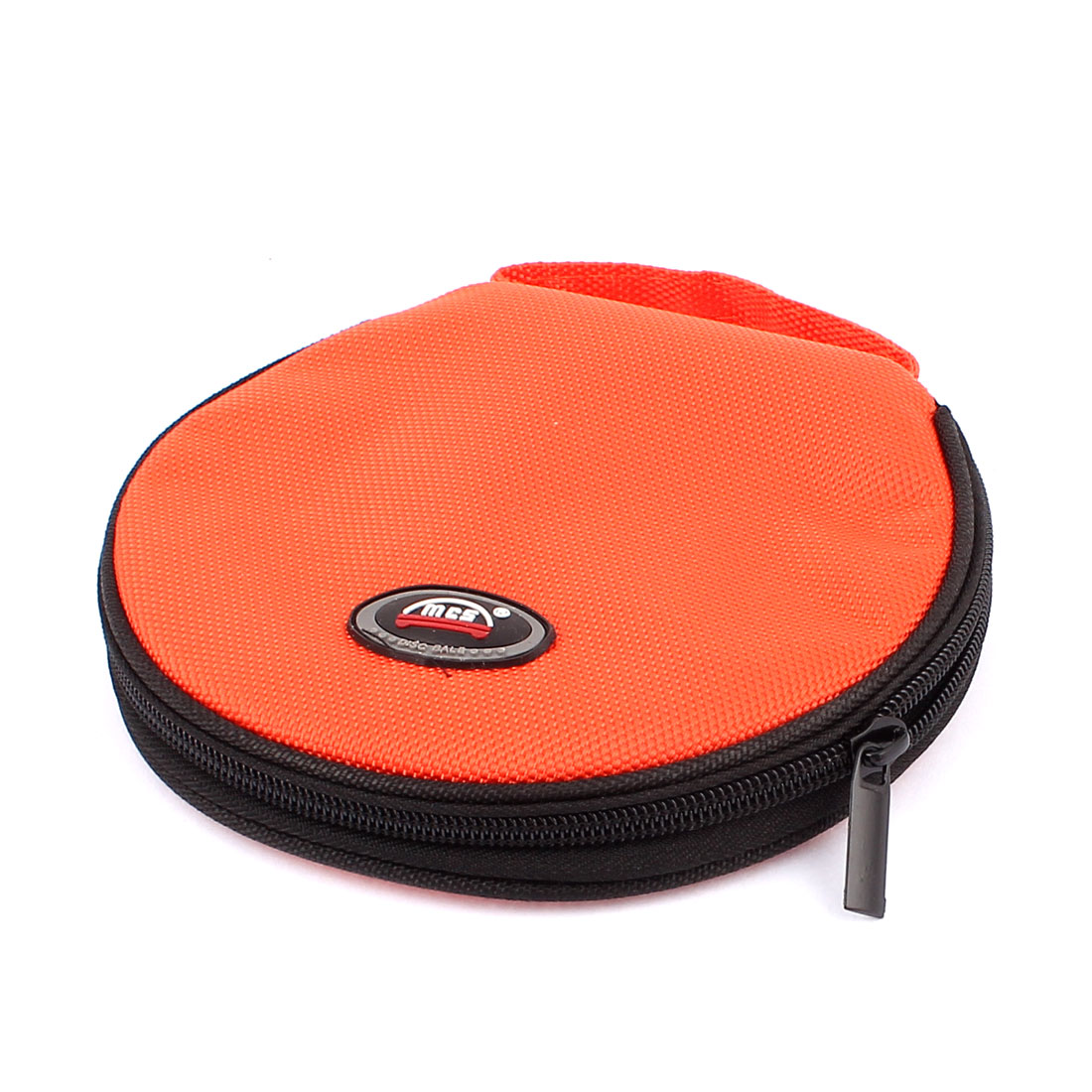 Zip up Round 20 Pockets CD Discs Holder Bag Storage Carry Case Cover Wallet Orange