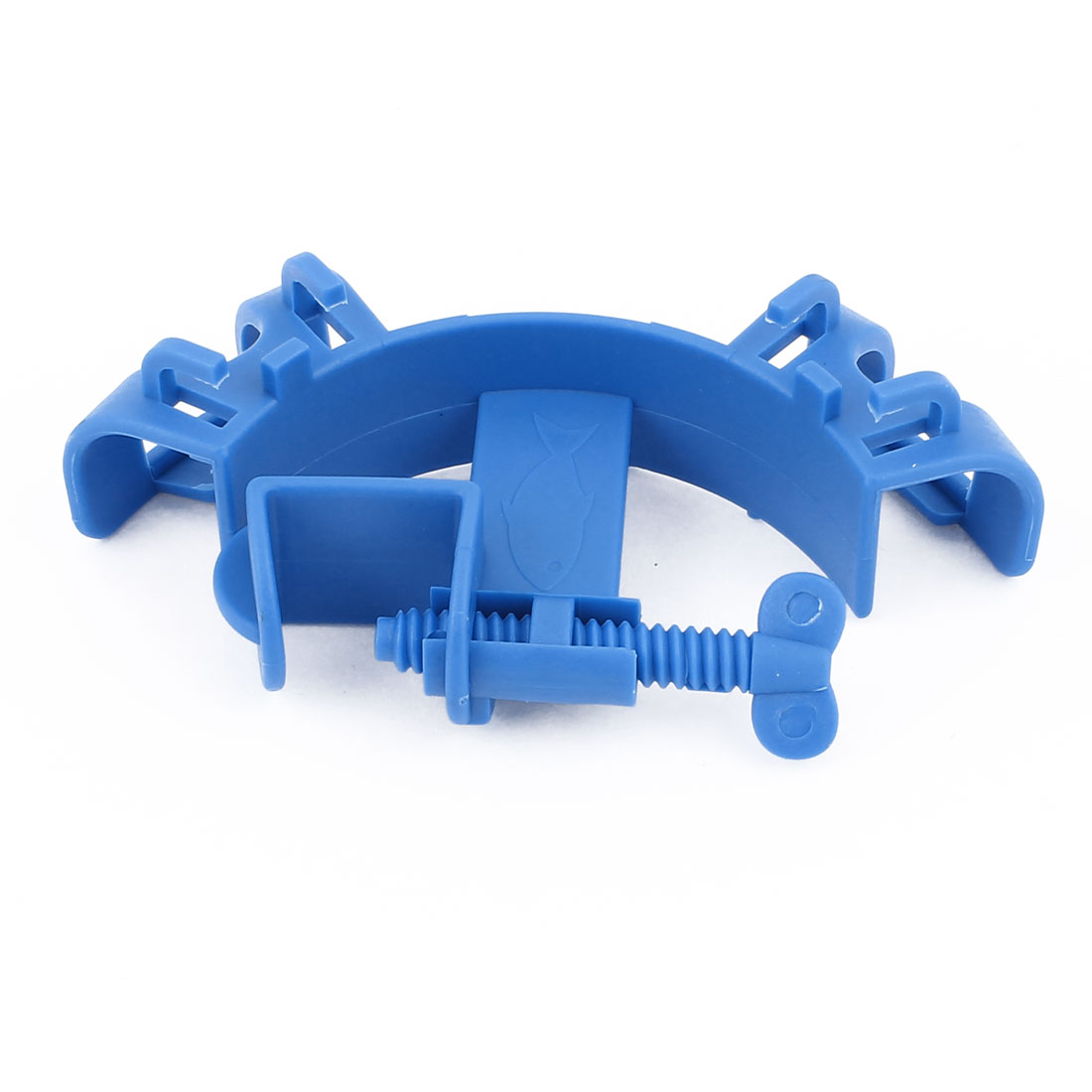 Blue Plastic Aquarium Fish Tank Fishbowl Mounting Water Tube Hose Holder