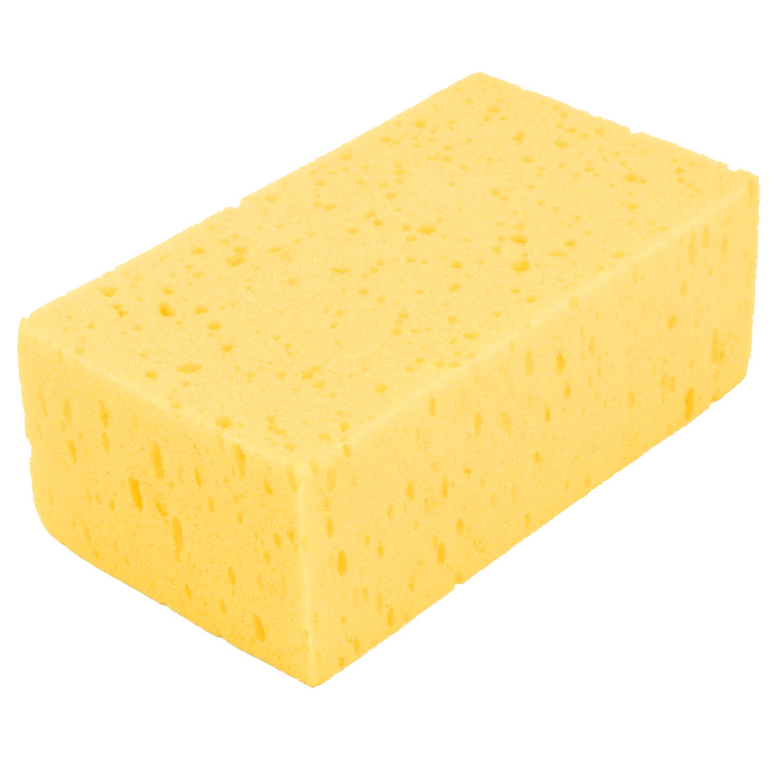 Yellow Rectangular Shape Wash Sponge Glass Windshield Washing Cleaning Pad Block for Car Vehicle